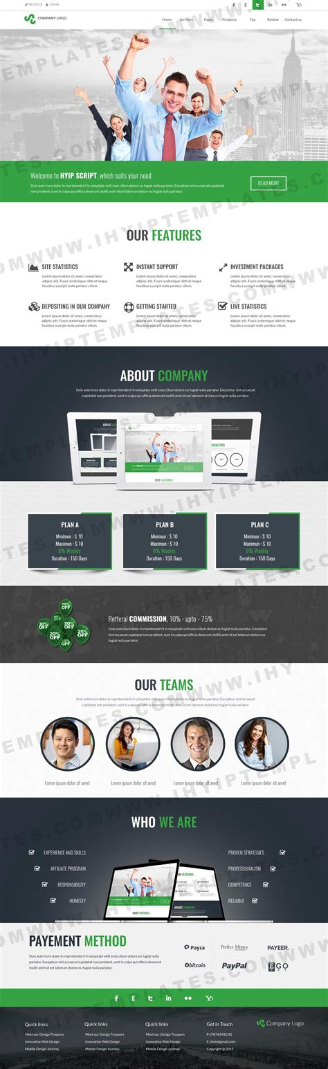 Buy Hyip Templates Best Hyip Website Templates Purchase Website Templates