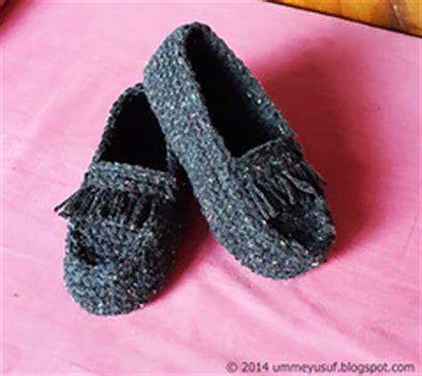 knitted moccasin slippers pattern ravelry crocheted moccasin pattern by umme yusuf