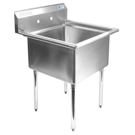 2 compartment prep sink gridmann 1 compartment nsf stainless steel commercial