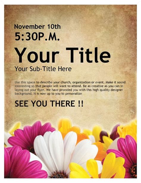 6 Event Flyer Templates Word Excel Pdf Templates Free Printable Church Event Flyer Templates