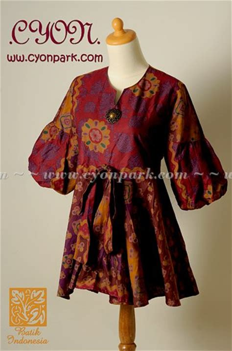 Valent Puff Baju Atasan Wanita new batik collection butik shop tas pesta belt