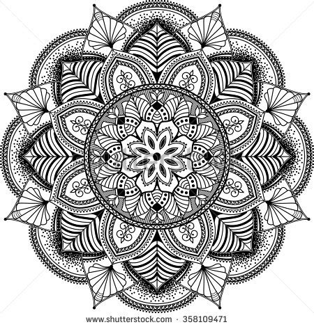 mandala muses a highly detailed coloring book books mandala stock images royalty free images vectors
