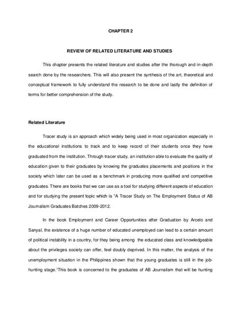 Thesis Chapter 2 Review Of Related Literature chapter2 thesis