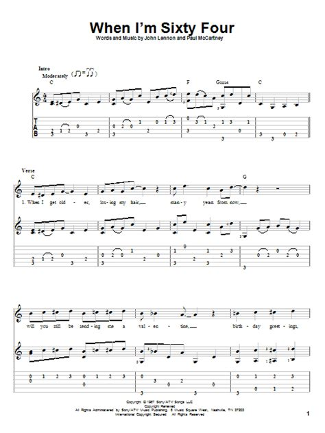 Yesterday guitar chords