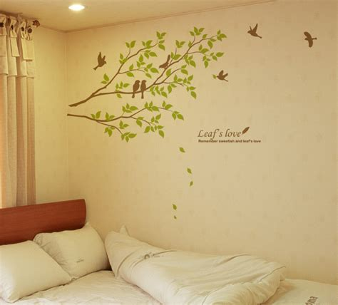 removable wall stickers tree birds wall decals removable decorative vinyl home decor sticker for nursery ebay