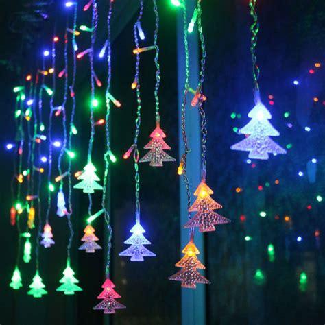 hanging window lights led snowflake tree hanging curtain light