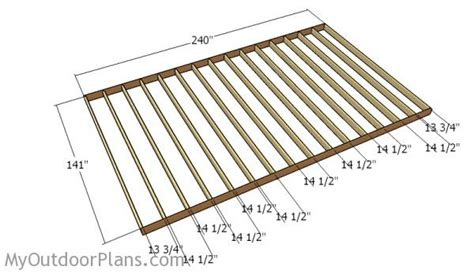 how to frame a floor 12x20 shed plans myoutdoorplans free woodworking plans