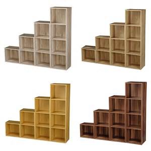 Storage Bookcase 1 2 3 4 Tier Wooden Bookcase Shelving Display Storage Wood