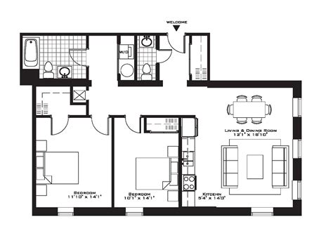 apartment floor plans 2 bedroom 15 2 bedroom apartment building floor plans hobbylobbys info