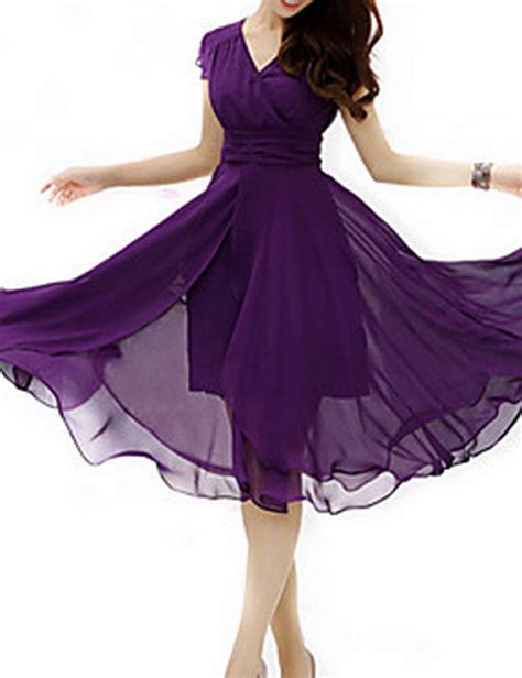 Real Pict Casual Dress Dr6023 the gallery for gt purple plus size prom dresses 2015
