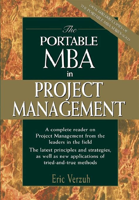 Mba In It Project Management by Wiley And Sons The Portable Mba In Project Management