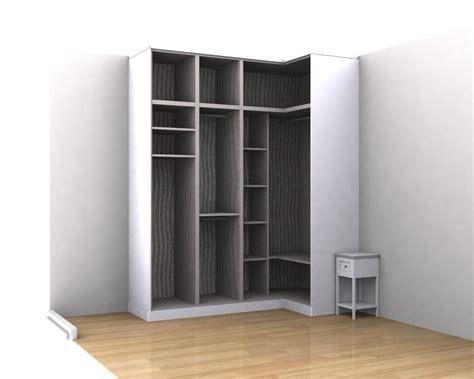 interiores de armarios en esquina