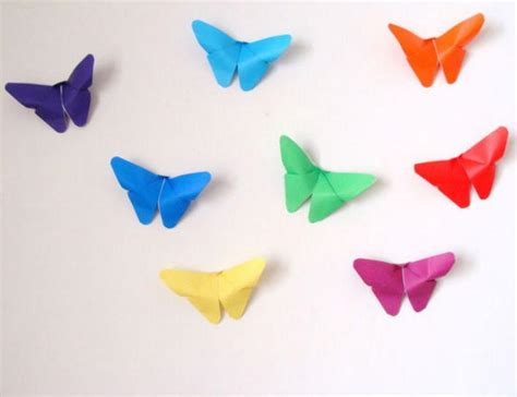 Colorful Origami - colorful origami butterfly decor allfreepapercrafts