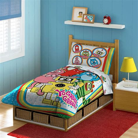 yo gabba gabba bedding yo gabba gabba rainbow toddler comforter bedding set