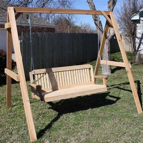 adult wooden swing tmp outdoor furniture traditional cedar wood swing sets adult