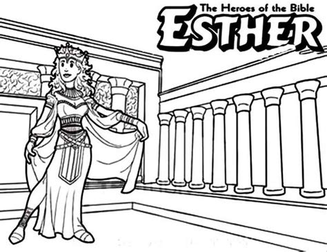 coloring pages esther queen bible heroes coloring and queen esther on pinterest