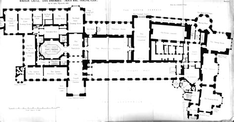 floor plan of windsor castle windsor castle first floor plan under george iv circa