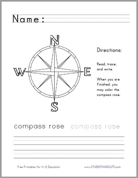 compass worksheet grade compass handwriting worksheet for lower elementary social studies free to print pdf file