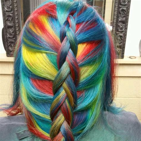 rainbow color hair ideas rainbow hair in primary colors hair colors ideas