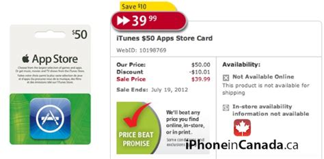 Who Has Itunes Gift Cards On Sale - buy 50 itunes cards on sale for 40 at future shop stores iphone in canada blog