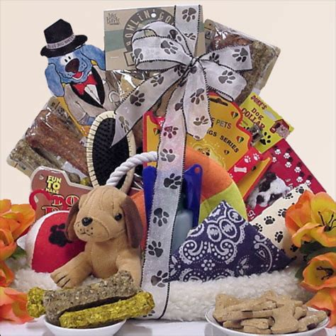 puppy gift basket per your pooch pet gift basket by gift baskets etc