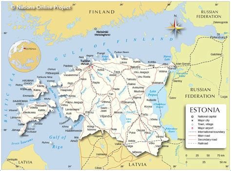 where is estonia on a map political map of estonia nations project