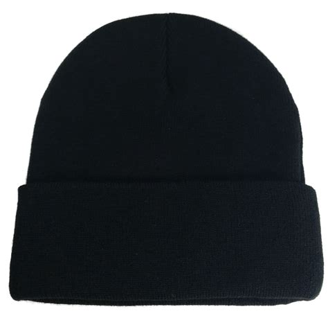 Big Black Knit Caps