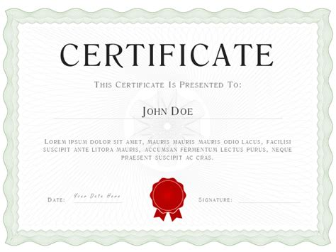 sage green powerpoint certificate diploma template