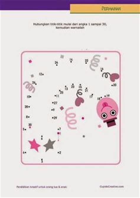 Dot Mainan belajar paud urutan angka dengan lembar permainan dot to