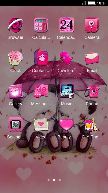 themes love download download pink love theme for your android phone clauncher