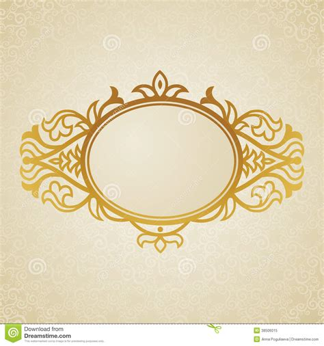 victoarian place cards template free vintage ornate frame with place for your text stock