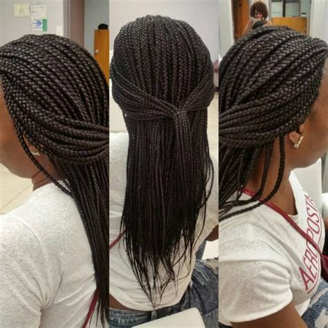 medium single braids braided hairstyles box braids