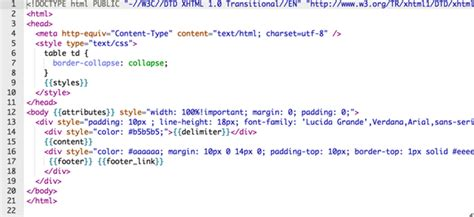 html email template code how to write html code for email signature