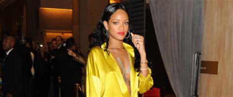 Rihanna In Post Grammys Car Crash by Rihanna Shows A Lot Of Leg At Pre Grammys Photos