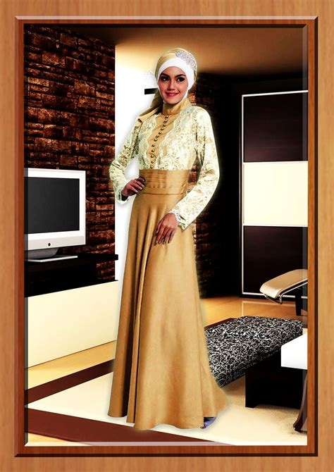 Dress Flower Brukat Black Terlaris gold cavelli baju muslim gamis modern