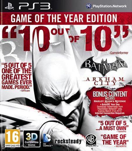 Termurah Batman Arkham Of The Year Ps4 batman arkham city edici 243 n of the year para ps3