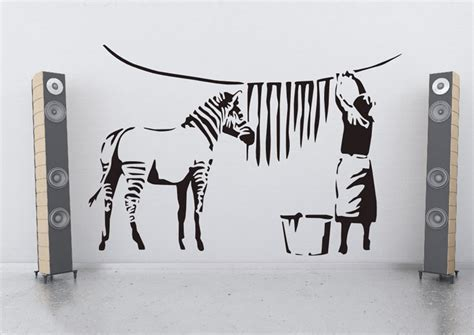 Wall Murals And Decals zebra stripes from banksy on your wall it 180 s possible