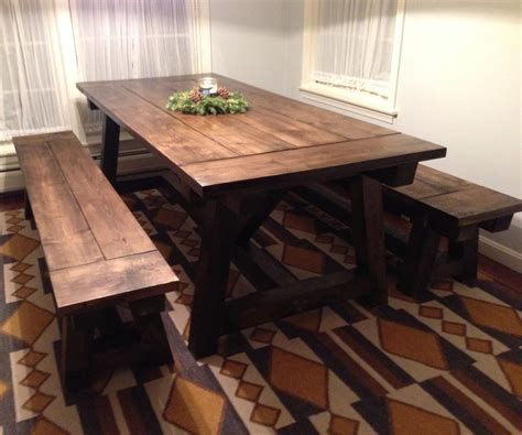 Farmhouse Kitchen Table With Bench by Benches For The Farmhouse Table Rustic
