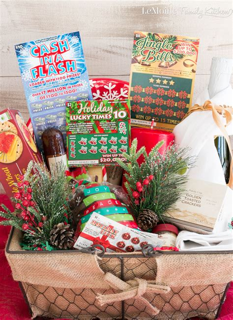 what to put in a gift basket food gift basket with nj lottery lemoine family