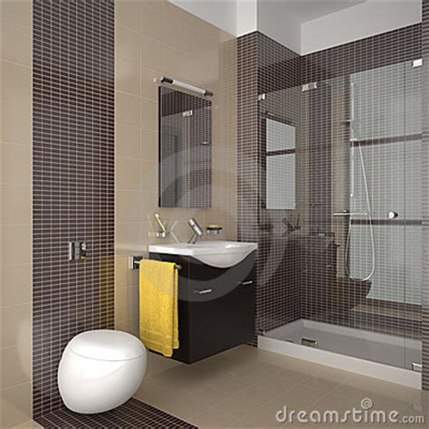 Badezimmer Fliesen Löcher by Modern Bathroom With Beige And Brown Tiles Stock Image