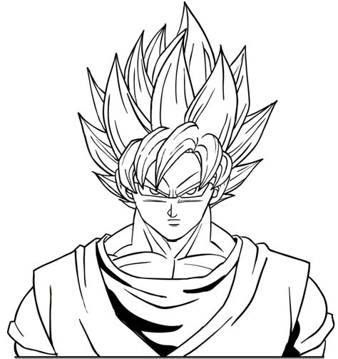 saiyan 5 goku colouring pages page 3 dark brown hairs