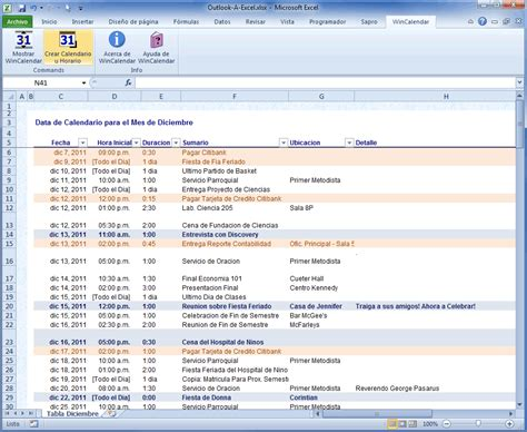 Calendrier Outlook 2010 Importar Outlook Calendar Para Excel E Word