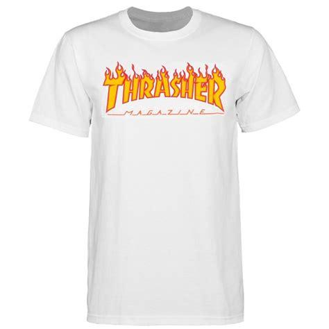 Trasher Logo Tees 1 thrasher logo mens white