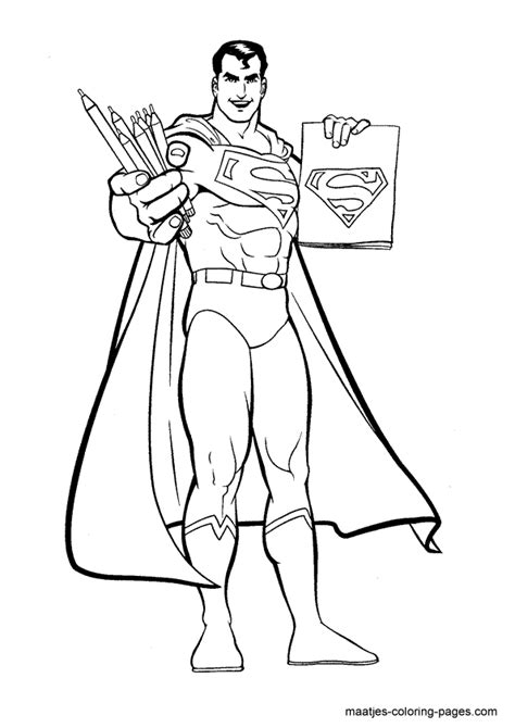 superman coloring page superhero coloring pages