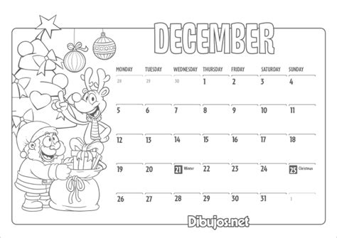december calendar coloring pages nuevo learn english coloring calendar for kids 2016