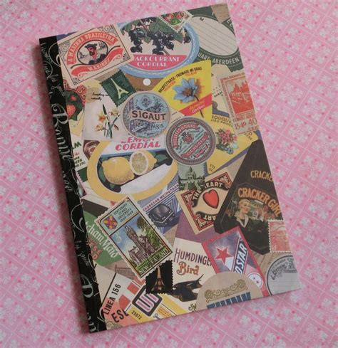Handmade Journals Diy - handmade journal crafts diy collage vintage handmade