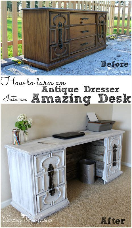turn desk into vanity how to turn an antique dresser into an awesome desk