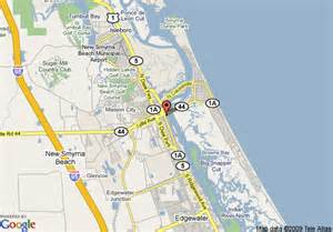 map of swan intracoastal b and b new smyrna