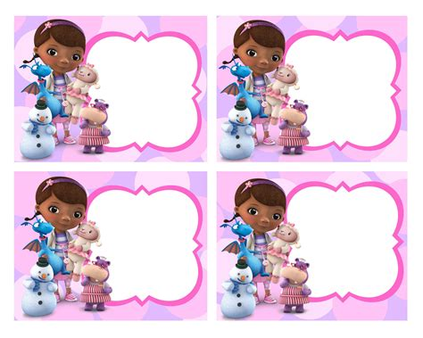 blank card   mcstuffins birthday party