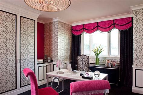 pink and black home decor girly office office ideas pinterest